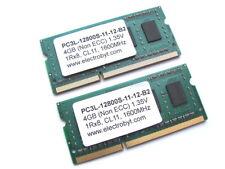 Electrobyt PC3L-12800S-11-12-B2 8GB (2x4GB Kit) 1Rx8 SODIMM DDR3 Laptop Memory