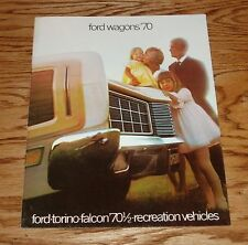 Original 1970 Ford Station Wagon Sales Brochure Falcon Torino Recreation 70