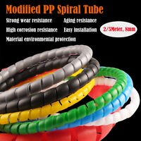 2/5m SPIRAL CABLE WRAP TIDY HIDE BANDING LOOM~PC,TV,HOME CINEMA,WIRE MANAGEMENT