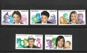 5 x Canada MUH booklet stamps (Ex qtr pack)(Commedians)($3.75 Bargain)