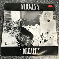 LP VINYL DEBUT ALBUM NIRVANA BLEACH TUP LP6 UK 1ST PRESS 1989 PRO CLEANED EX/EX