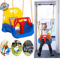 3 In 1 bucket Seat Jungle Swing Set for Toddler Baby Playground Outdoors Game F