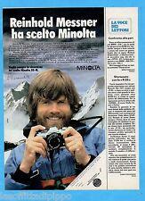 QUATTROR982-PUBBLICITA'/ADVERTISING-1982- MINOLTA XG-M e REINHOLD MESSNER