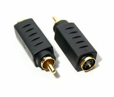Composite Male RCA to SVideo S Video Female adapter converter BI-Directional <->