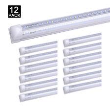 12Pack 8 Foot Led Tube Light Bulbs 72W 8FT T8 Integrated 8' Led Shop Light 6000K