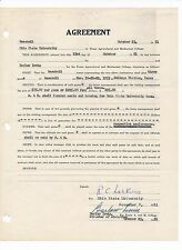 "1925 BARLOW ""BONES"" IRVIN Texas A&M Early NFL Football Signed Contract"