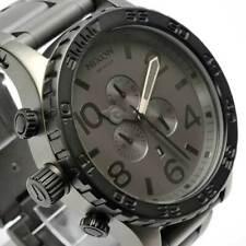 Nixon 51-30 Chrono Matte Black Gunmetal Men's Watch A083-1062 A0831062