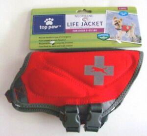 Neoprene Dog Life Jacket - TOP PAW - Sz XS 5-15 lbs - Red