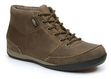 Simple ALTITUDE Mens Olive Brown Oiled Leather Casual Ankle Boots