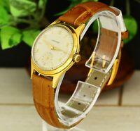 1950's Vintage Junghans J93 unisex gold plated mechanical Swiss made wristwatch