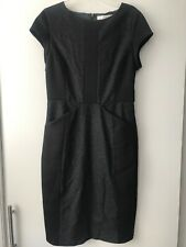 Neiman Marcus Susana Monaco 6 Gray /Black Wool dress