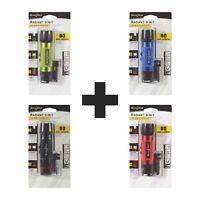 Nite Ize Radiant 3-in-1 LED Mini Flashlight Variety Pack- Green Blue Black Red