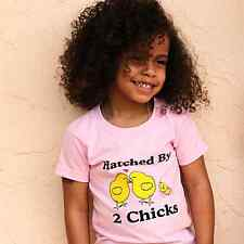 HATCHED BY 2 CHICKS T-SHIRT FOR KIDS