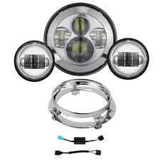 "7"" Daymaker LED Headlight Kit For Harley Davidson Tour Tri Glide Ultra Classic"