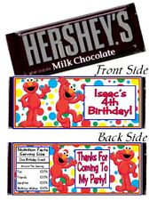 12 Elmo Birthday Party Baby Shower Hershey Candy Bar Wrappers Elmo's World