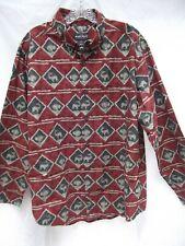 vtg Woolrich terre cotta claret buffalo moose deer elk button down shirt L Mint