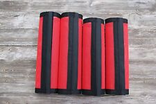 Fly Protection Leg Wraps/Leggings For Horses, Straight Fly Boots Set Of 4,Red
