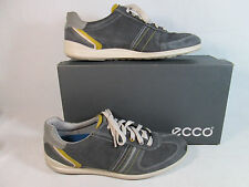 Ecco CHANDER Leather Athletic Shoes Moonless Gray Sz US 9-9.5-M EU 43