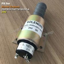 2003ES-24E7U1B2S1A 24V Fuel Shut Off Stop Solenoid Valve Fit for Diesel Engines