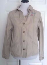 Disney store Beige Embroidered Eeyore floral cotton jacket casual donkey size L