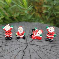 Santa Claus Miniature Figurine Christmas Ornament Accessories Fairy Garden decor