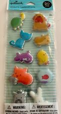 HALLMARK 20 PIECE PUFFY ANIMAL STICKERS - NEW IN PACKAGE