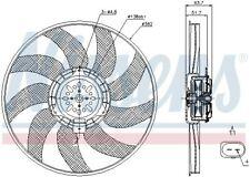 Nissens | Lüfter, Motorkühlung Ø 380 mm 2-polig Links (85728) für AUDI A4 B8 Q5
