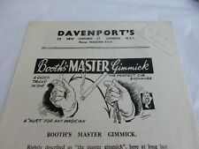 1950s Magic Tricks 4 page pamphlet . Cigarette Trick Etc / Roll Up Tie Etc