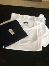 2 X Yours White & Navy Blue Cotton Short Sleeve Tops Plus Size 26-28 New