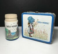 Vintage 1972 HOLLY HOBBIE Metal Lunchbox & Thermos Aladdin Industries GC