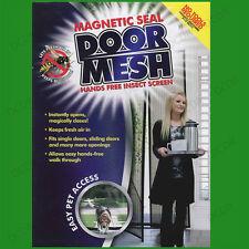 MAGNETIC Curtain GUARNIZIONE PORTA mesh, Mani Libere Fly Bug MOSQUITO INSETTI ZANZARIERA RETE