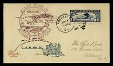 DR WHO 1928 ROCHESTER NY FIRST FLIGHT AIR MAIL CAM 20 C196130