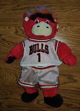 RARE Basketball Benny The Bull Chicago Bears NBA Mascot Stuffed Animal Plush