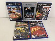 PS2 Retro Bundle Racing Games x5 Driven To Destruction Crash N Burn Flatout 2