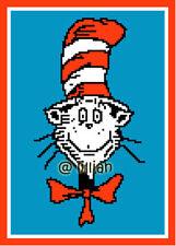 DR SEUSS CAT IN THE HAT POTRAIT Cross Stitch PATTERN