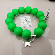 Stunning Austrian green crystal bracelet with sterling silver charm