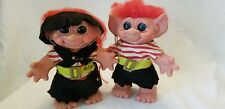 Vintage Thomas DAM Pirate Troll Doll Couple Boy Girl Excellent Cond. Blue Eyes