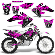 Honda CRF70 CRF80 CRF100 Decal Graphics Kit MX Dirt Bike Sticker Wrap REAP PINK