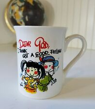 Dear God Kids Coffee Mug Annie Fitzgerald Royal Ceramic Religious Faith Vintage