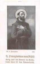 """Franz von Assisi  RARITÄT Opferbeicht 1928 gedruckt christlicher Verlag  """"H831"""""""