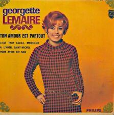 ++GEORGETTE LEMAIRE ton amour est partout/a l'hotel st-michel EP PHILIPS VG++