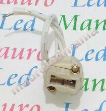 Porta lampada G9 220 V  2 A  in Ceramica con filo e connettore Bianco Pavia