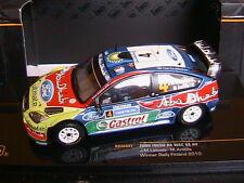 FORD FOCUS RS WRC 09 #4 WINNER RALLY FINLAND 2010 LATVALA ANTTILA IXO RAM447