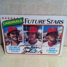 1980 Topps Tom Herr Auto Signed Card