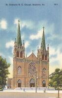 Postcard St Gabriel's R.C. Church Hazleton PA