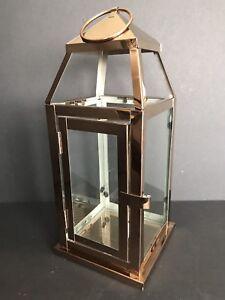 Elements 12 In. Copper Metal Lantern NWT