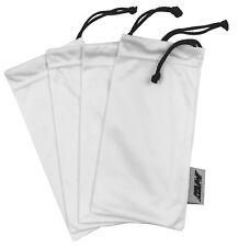 6 Pack Premium White Black Microfiber Sunglasses Pouch Soft Cleaning Case Bag