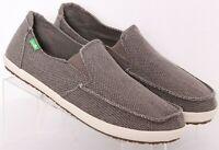 Sanuk 1015927 Vagabond Gray Slip-On Casual Sidewalk Surfer Shoes Men's US 10
