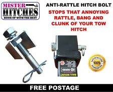 ANTI RATTLE HITCH BOLT AND CLIP BALL MOUNT TONGUE TOW BAR TRAILER CAMPER