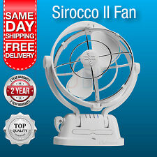 NEW Sirocco II Fan Caframo 12 Volt White Caravan / Boat Fan New Model